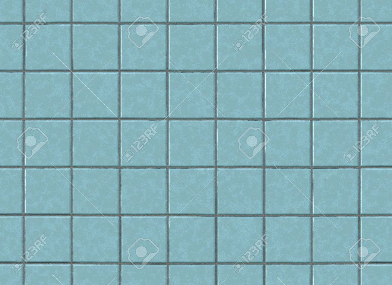 Many Square Ceramic Tile. Pattern Texture Stock Photo, Picture And ...