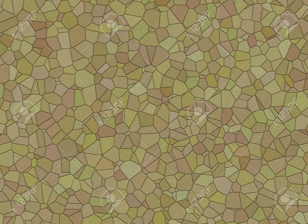 Landscape Design From Stones Mosaic Wallpapers Pattern Stock Photo