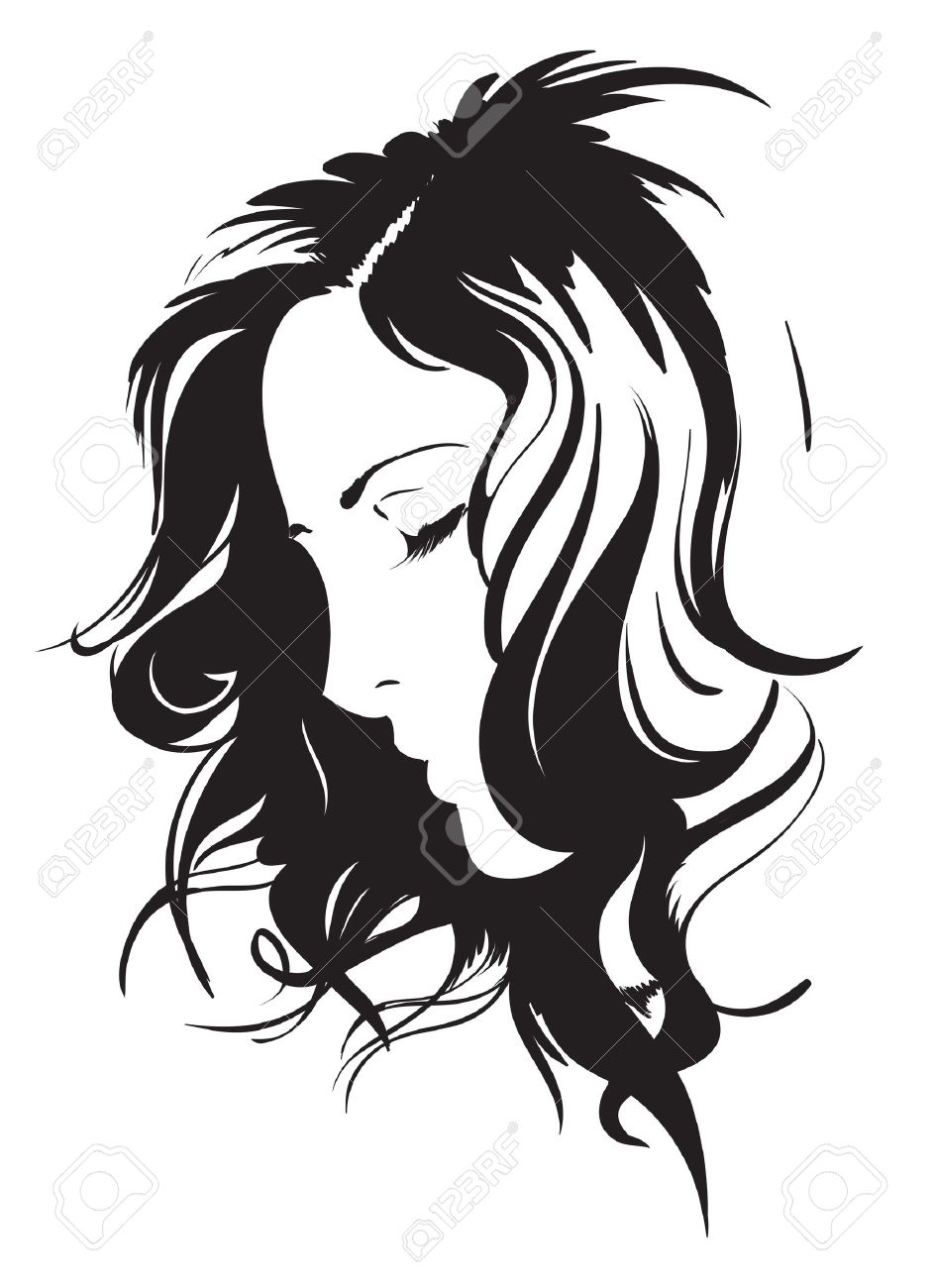 Hand-drawn fashion model. Vector illustration. Woman Stock Illustration - 10060170
