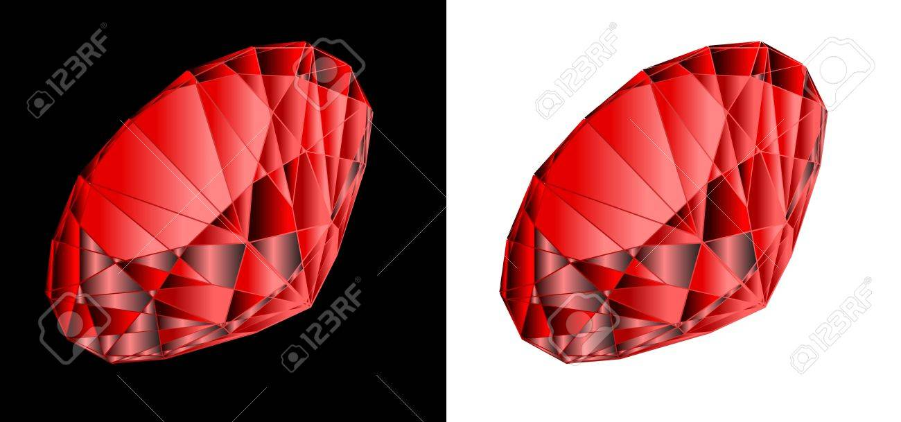 Vector ruby on black and white a backgroundr Stock Vector - 10638331