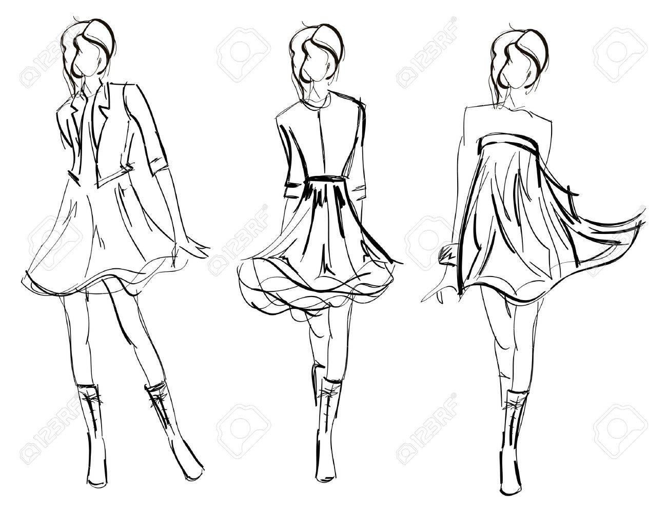 SKETCH. fashion girls Stock Vector - 11613121