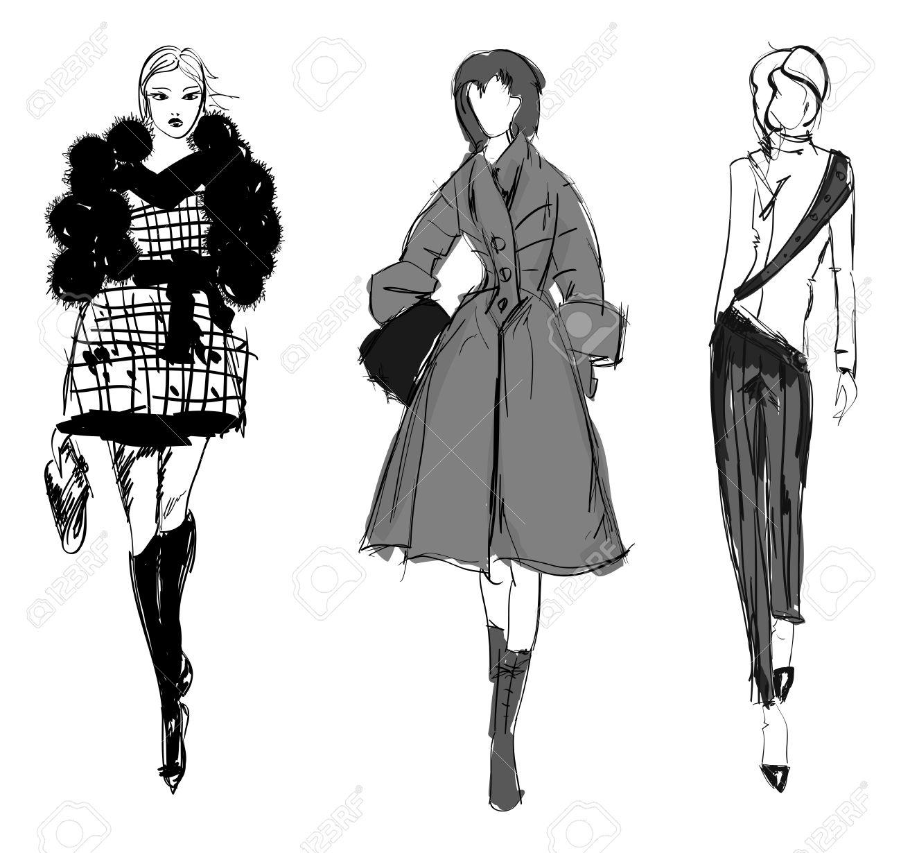 SKETCH. fashion girls Stock Vector - 11613449
