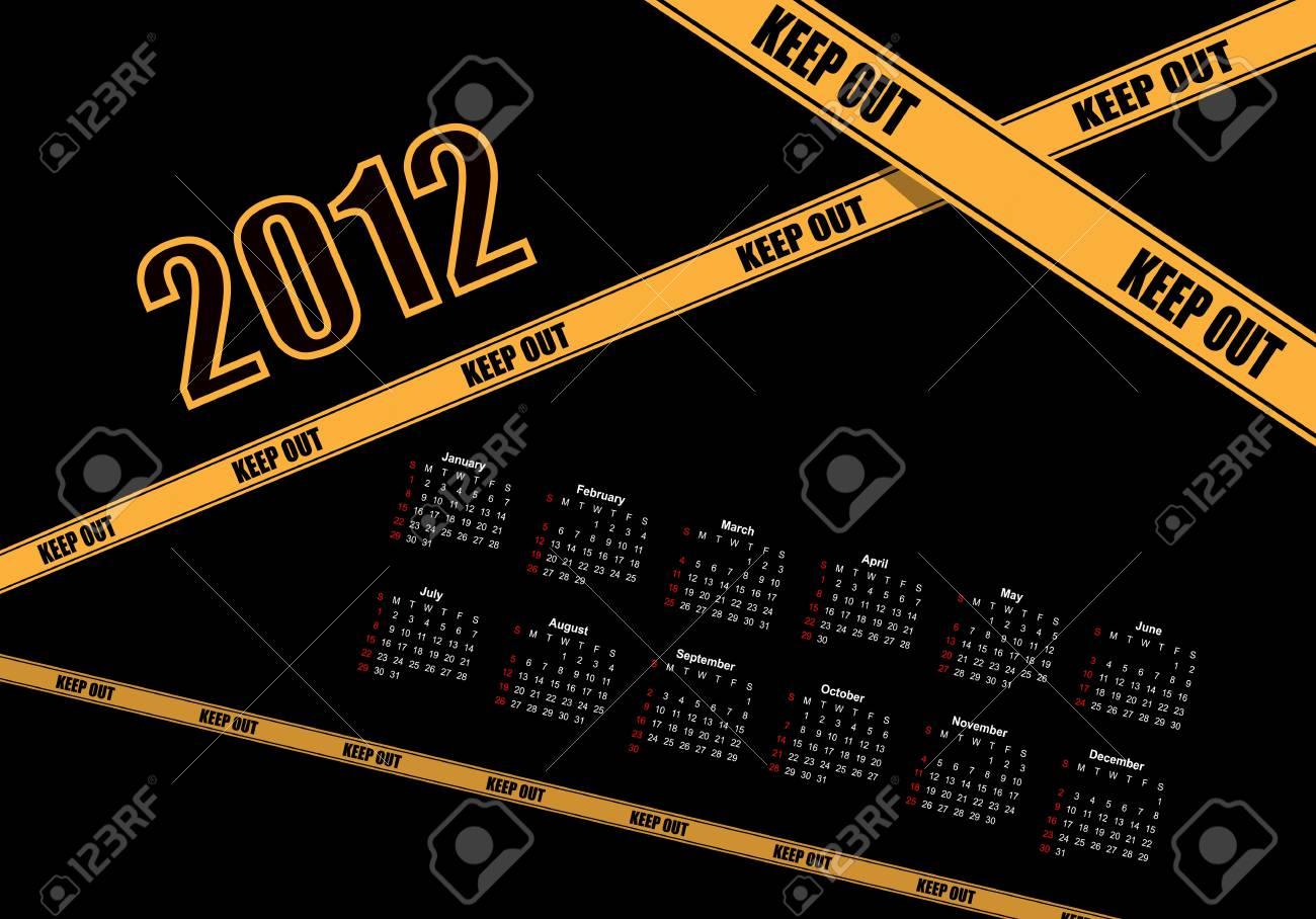 Calendar Design 2012 Stock Vector - 12487084