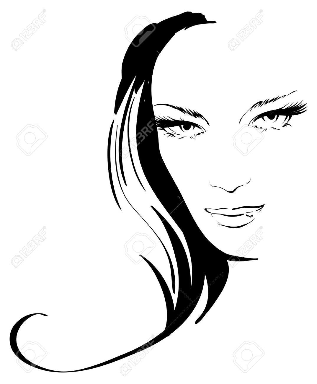 beauty girl face Stock Vector - 12485111