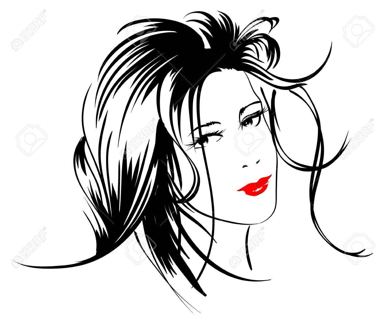 Beauty Girl Face Stock Vector