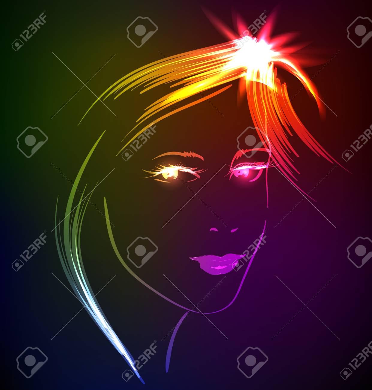 beauty girl face Stock Vector - 17801140