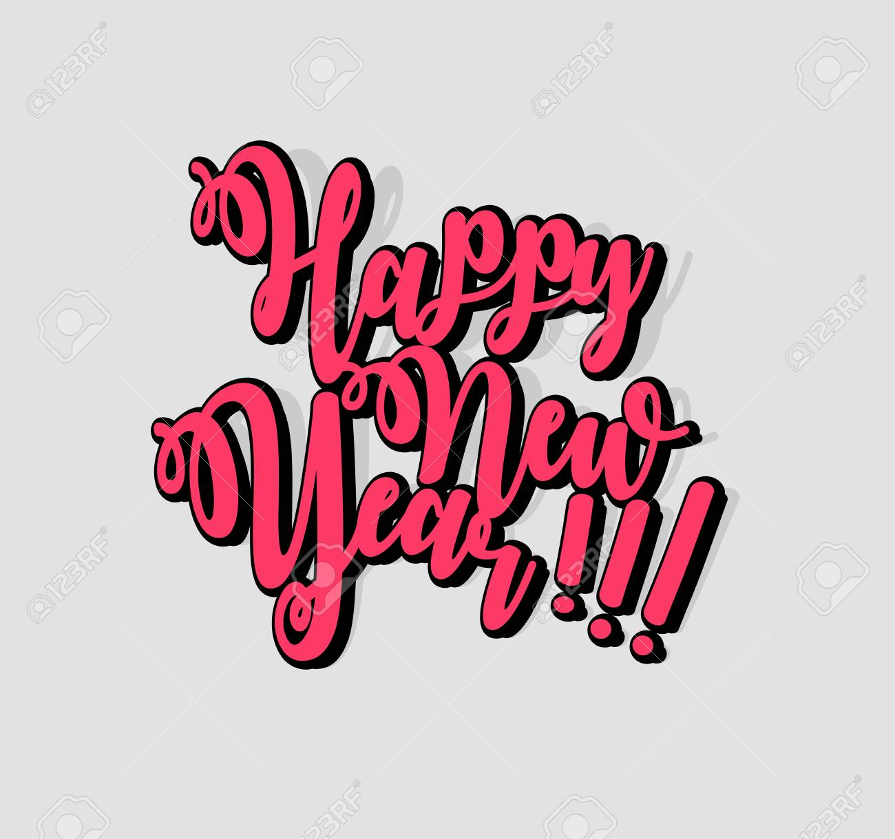 Happy New Year Lettering Design 15