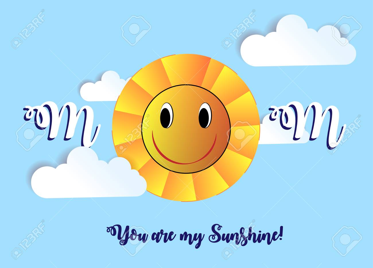 Concept Of Creative Design Of A Greeting Card With A Smiling