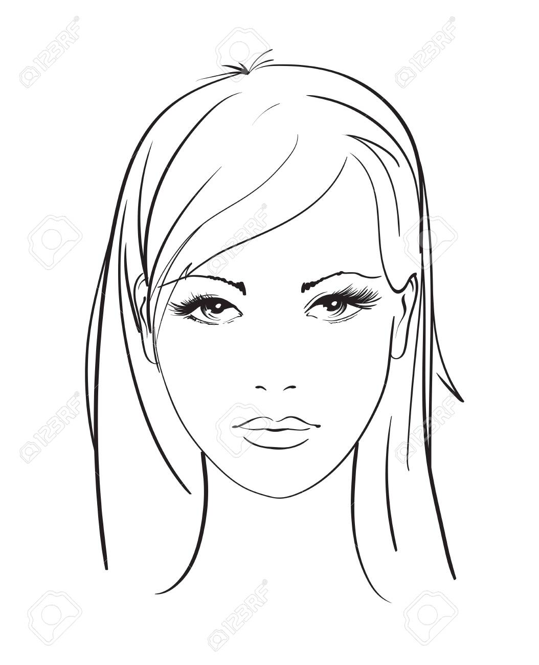 Beautiful Young Woman With Hairstyle And Expressive Look Fashion Royalty Free Cliparts Vectors And Stock Illustration Image 125840636