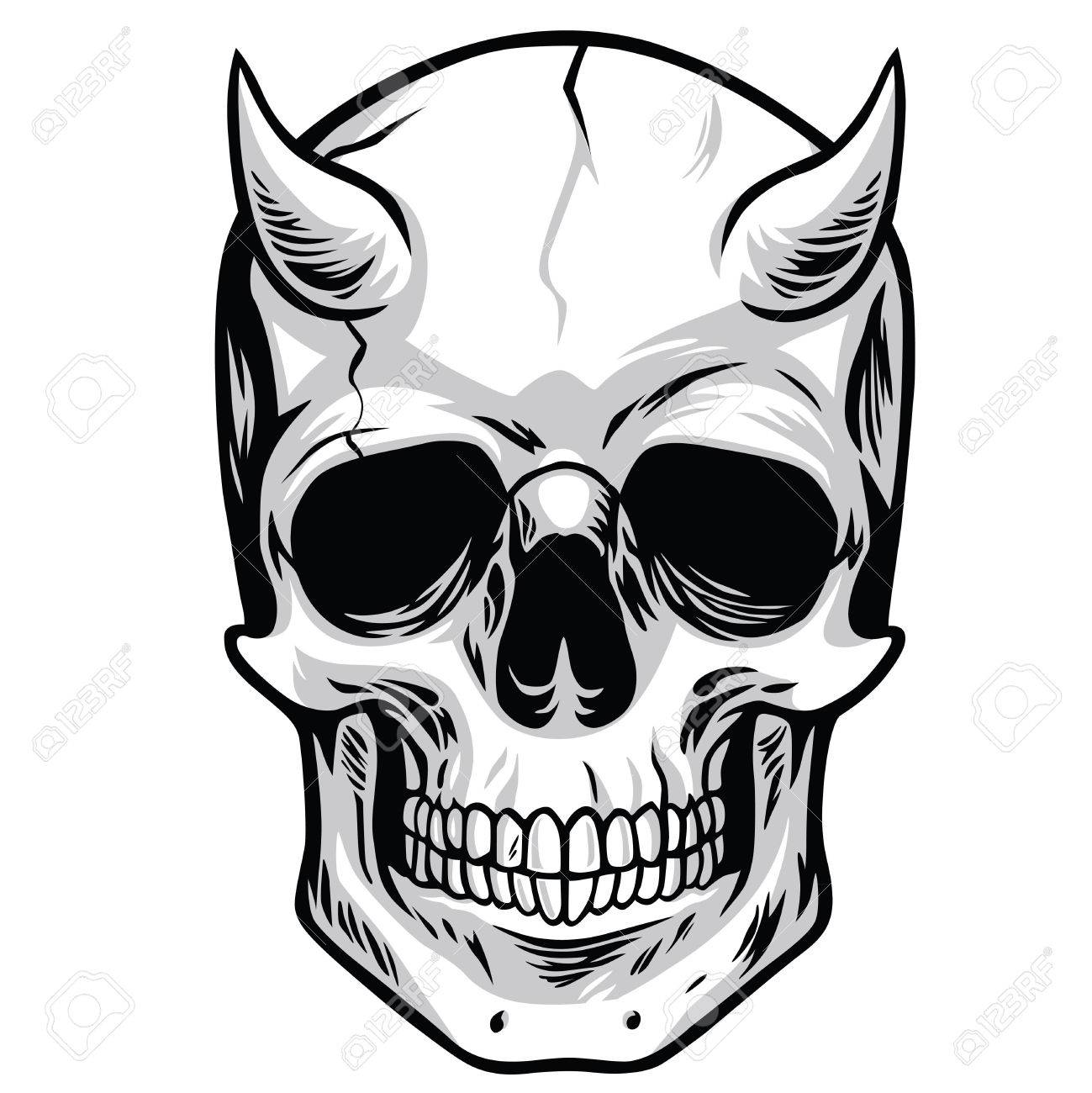 demon head skull vector royalty free cliparts vectors and stock rh 123rf com skull artwork vector skull artwork vector