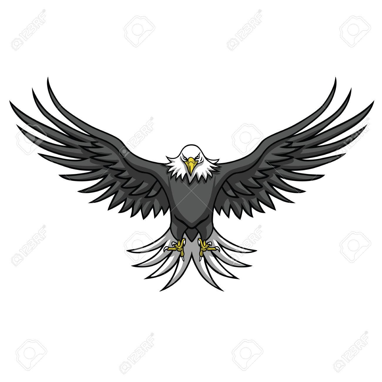 eagle mascot spread the wings vector illustration royalty free rh 123rf com vector eagle free vector eagle tree