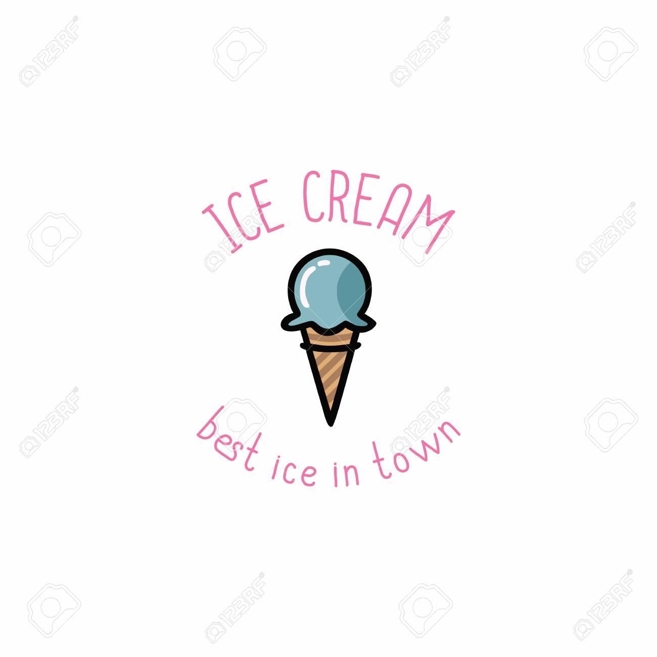 Ice Cream Logo Vector Design Template Royalty Free Cliparts ...
