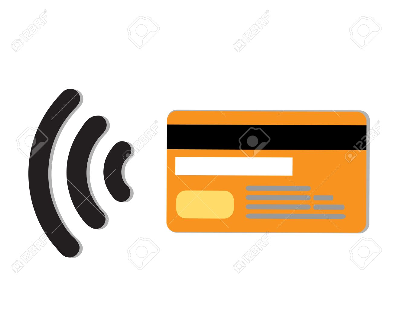 Contactless credit card vector.Wifi Mobile Pay.Symbol card sign..