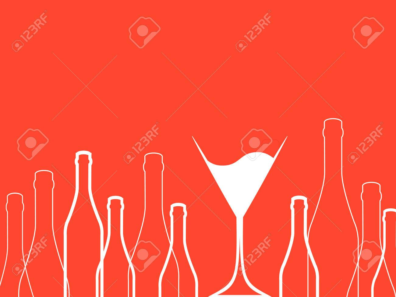 Cocktail Party Vector Bar Menu Ilustration Suitable For Poster Suitable
