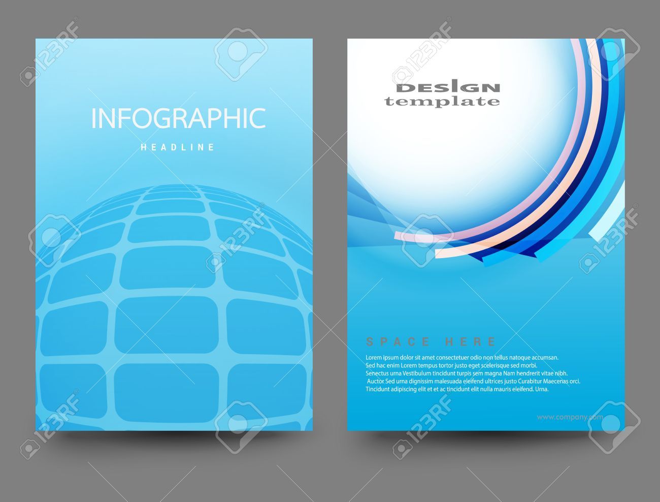 Brochure Design Template.Vector Flyer Design Layout Illustrations ...
