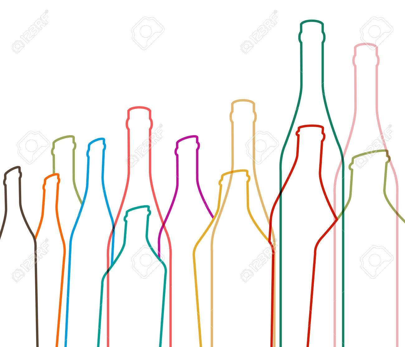 Hintergrund Flasche Ilustration.Alcoholic Bar Menu.Design Für Party ...
