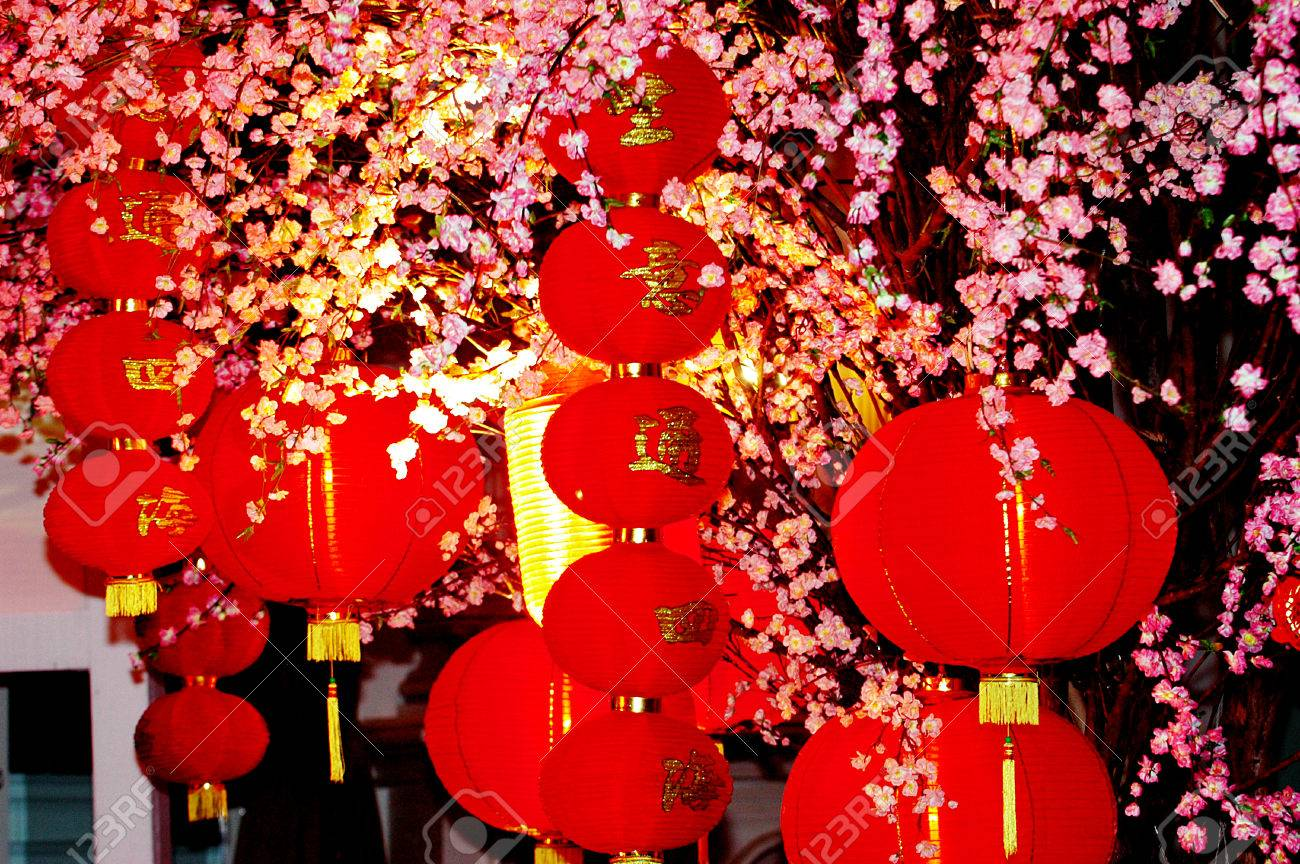 lantern in the empire palace in chinese new year celebrations