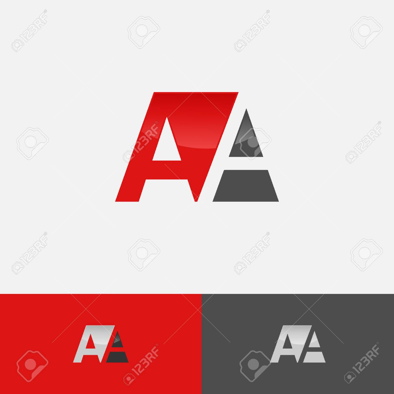 aA letter logo design negative space vector illustration template Stock  Vector - 109755959 39d74152f464