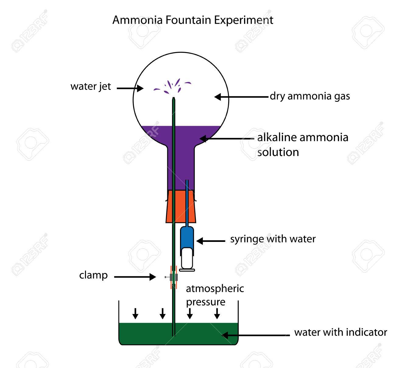 Ammonia Fountain Experiment To Demonstrate The Solubility Of ...