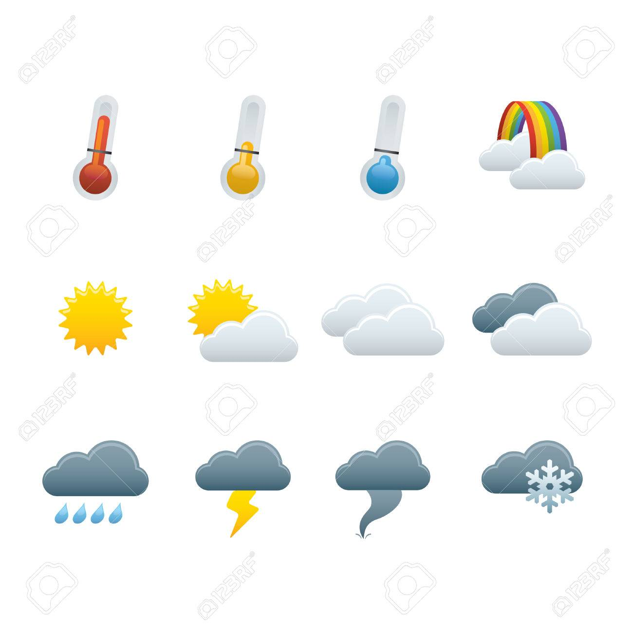 01 Weather Forecast Icons Stock Vector - 7924199
