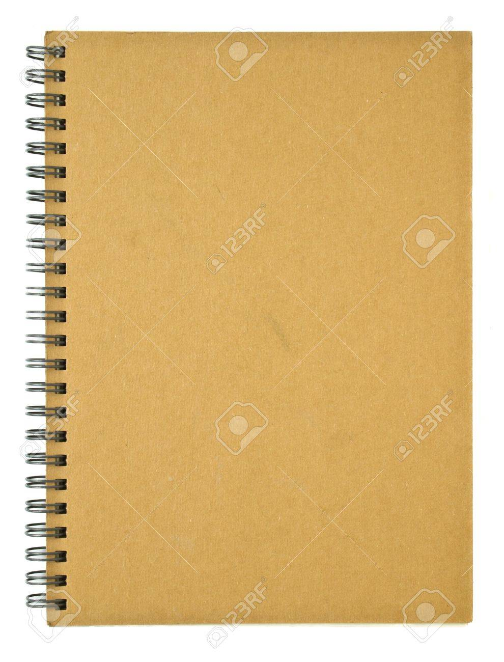 Clear cover of recycle spiral notebook Stock Photo - 8458316