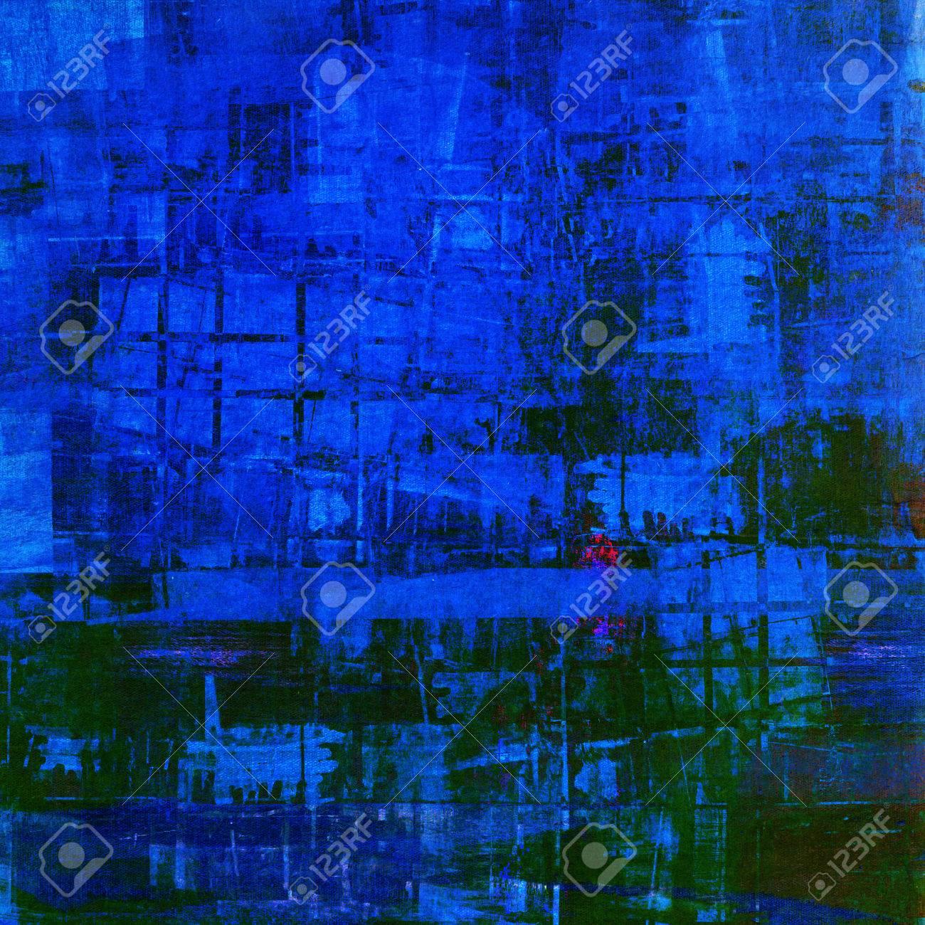Résumé De Fond Dans La Peinture Bleu Foncé