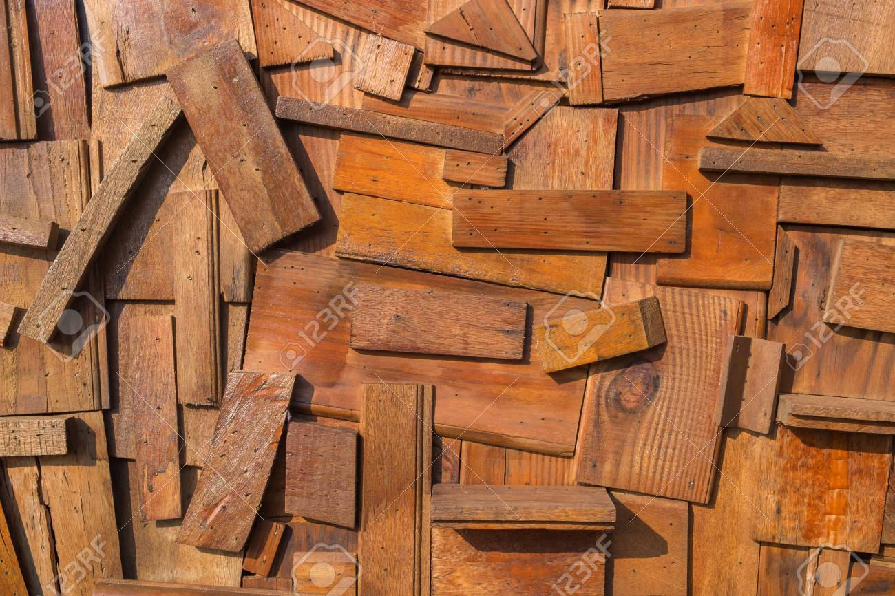 Abstract Wood Wall Designed By Random Pieces Arrangement Stock Photo Picture And Royalty Free Image Image 89589114