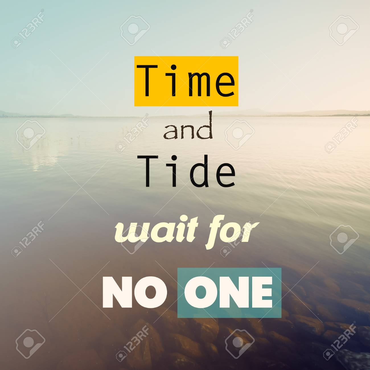 time and tide waits for none quotes