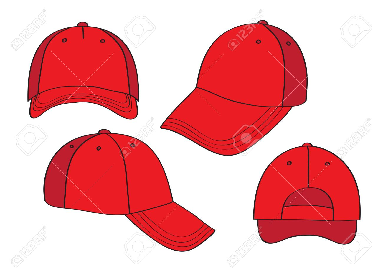 0f39334604d Blank Cap (different points of view) With Space For Your Design Stock  Vector -