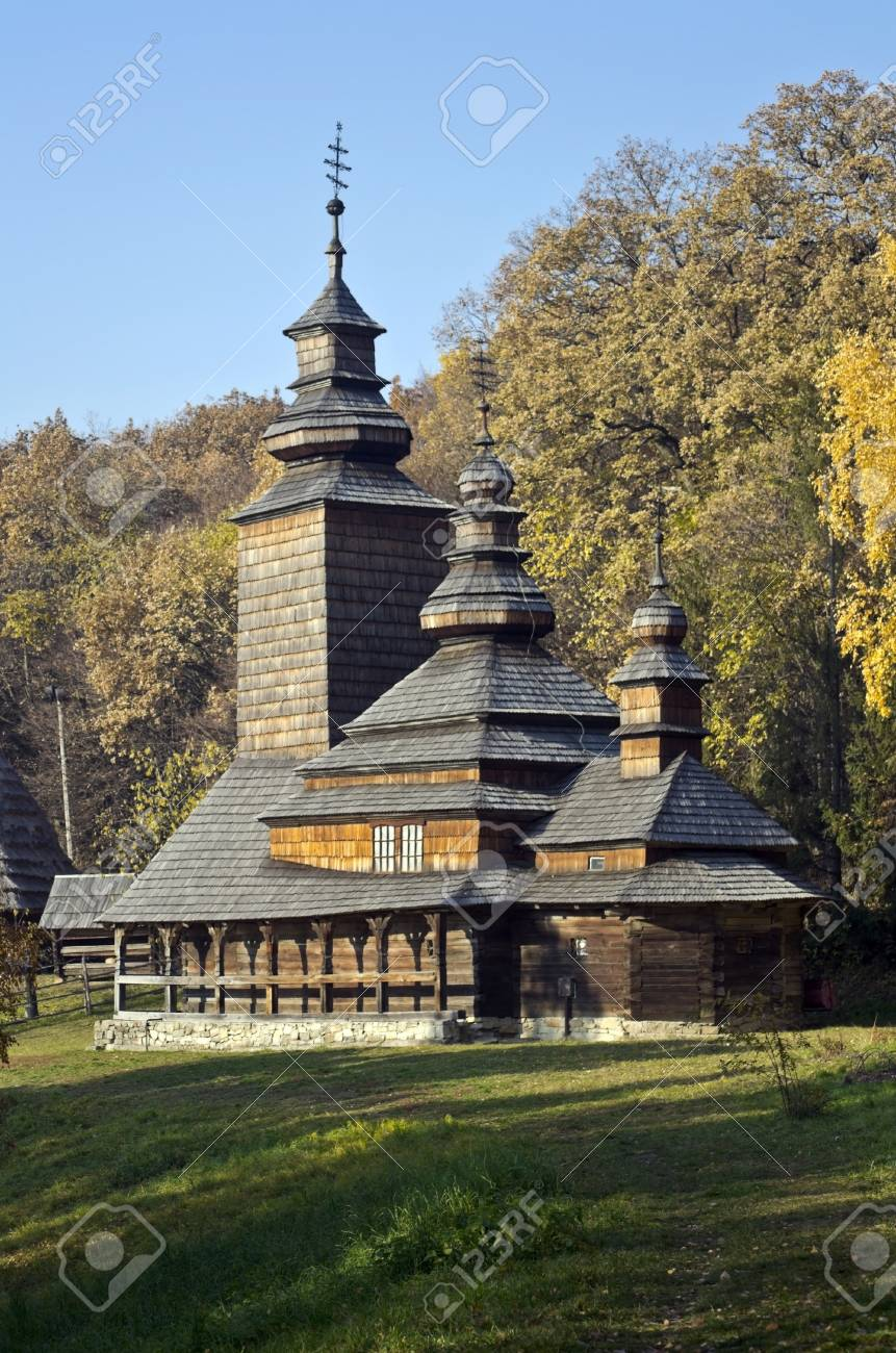 old wooden church in the Carpathian Mountains Stock Photo - 11173057