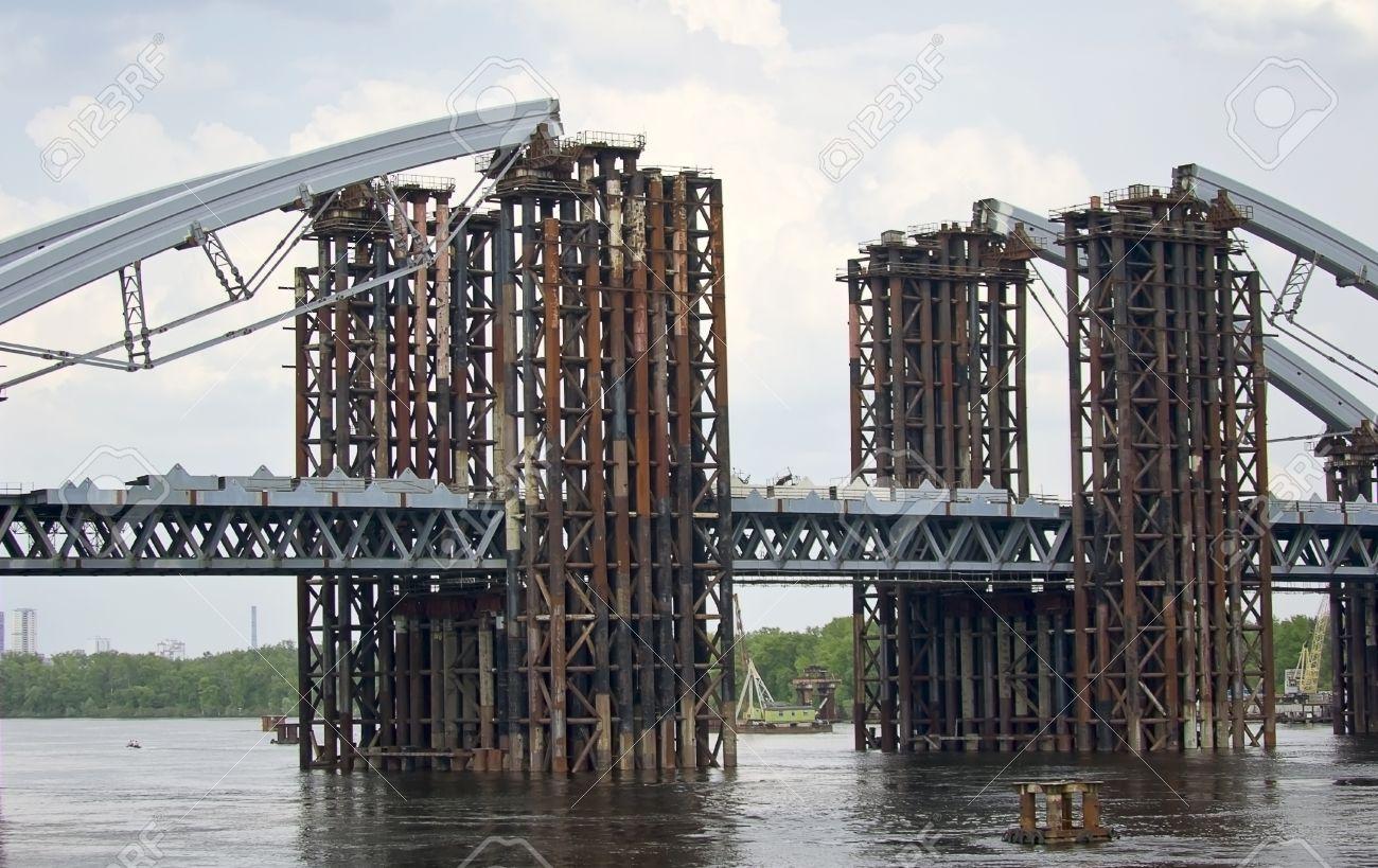 construction of a bridge across the river - 14151788