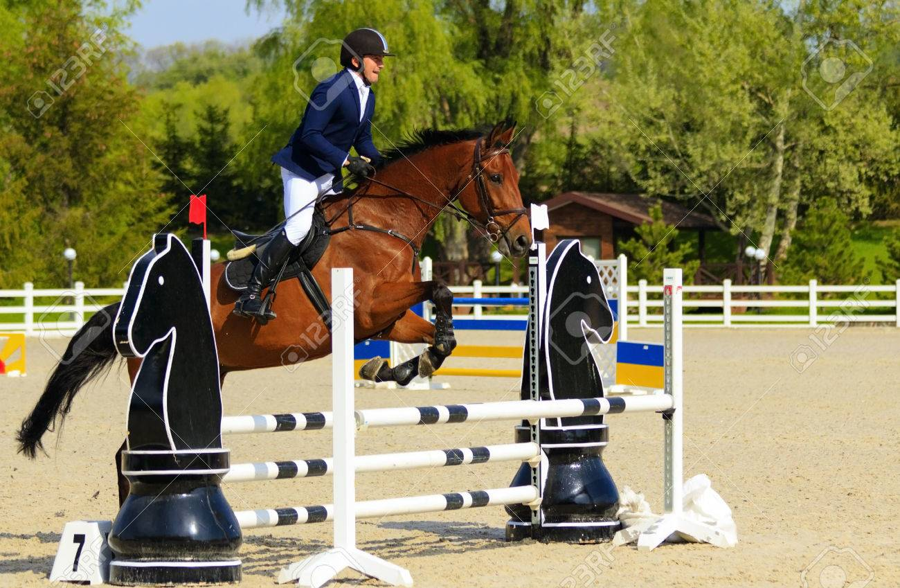 Kiev, Ukraine- April 30,2017:Championship of Ukraine on equestrian sport among amateurs. - 80218649
