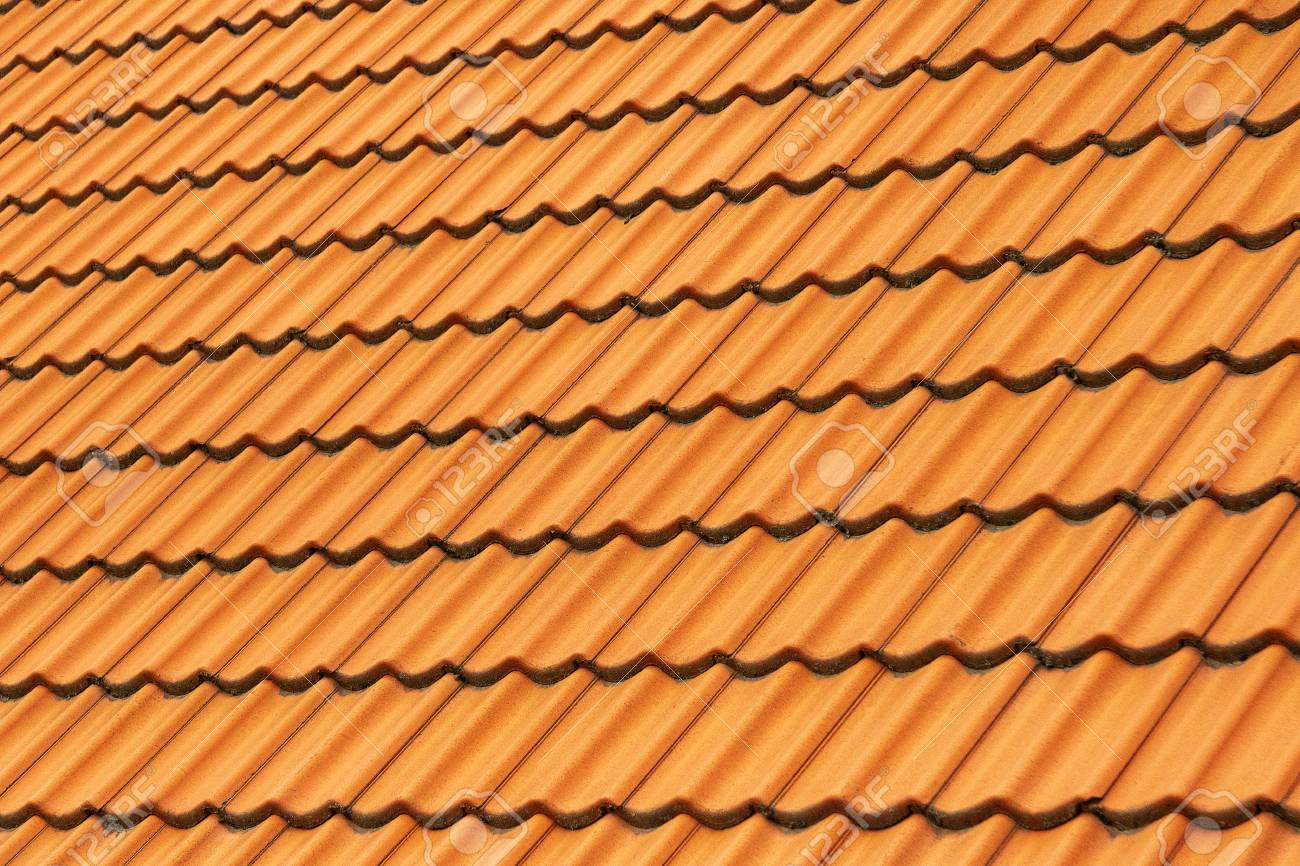 tile of clay on the roof - 125912079