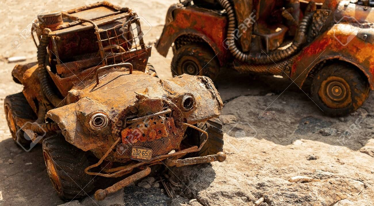 toys with their own hands. machine from scrap. - 131373566