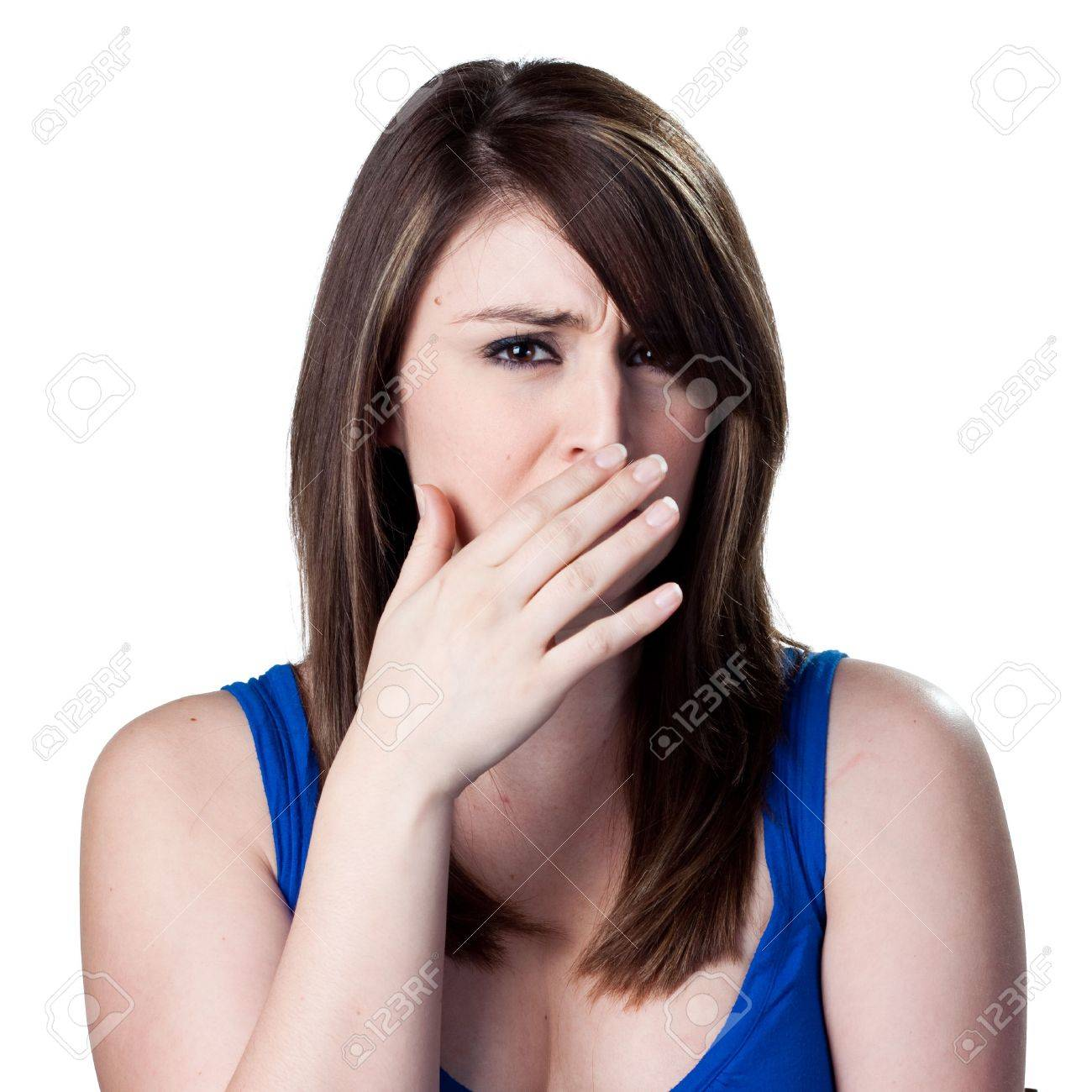 Covering her nose after a bad smell Stock Photo - 6906924