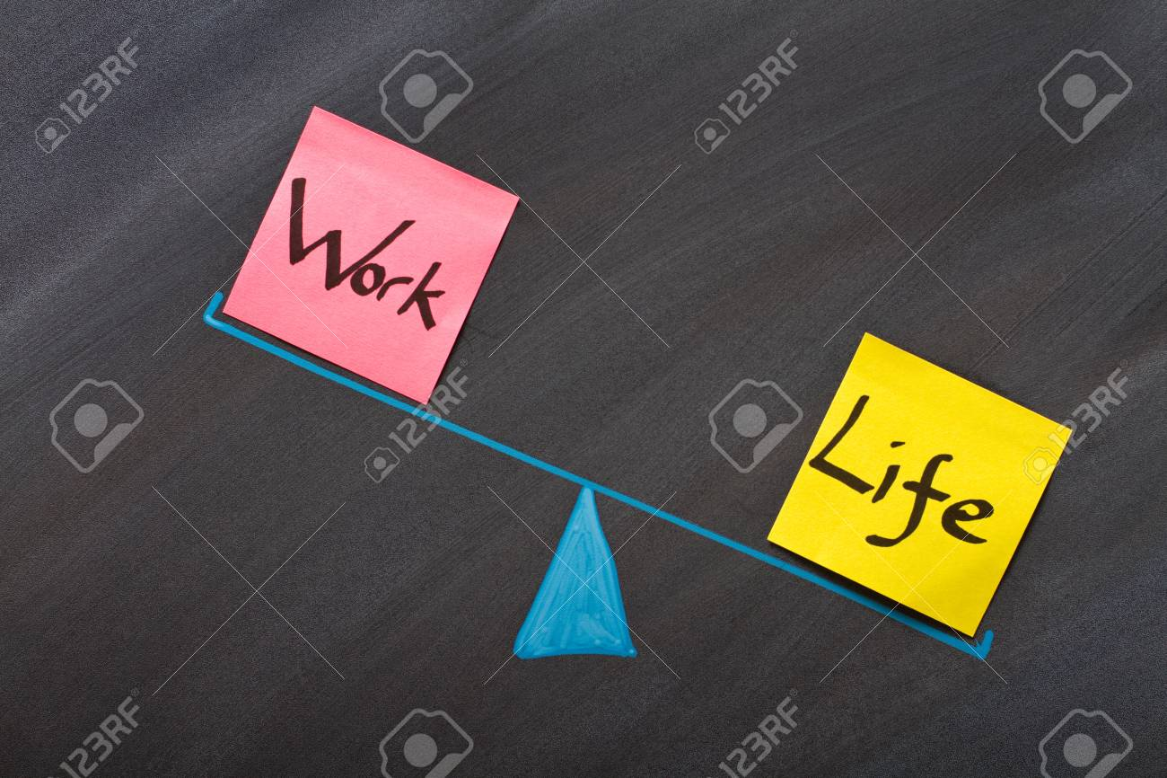 Looking at the balance between life and work Stock Photo - 12336702