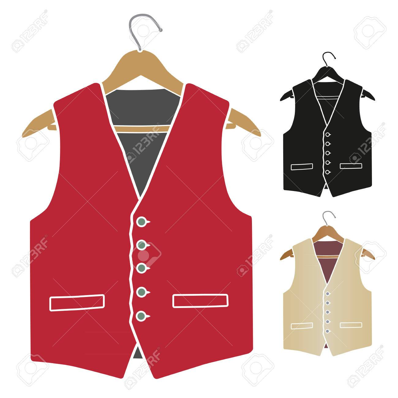 man s waistcoat on hanger - 26301449