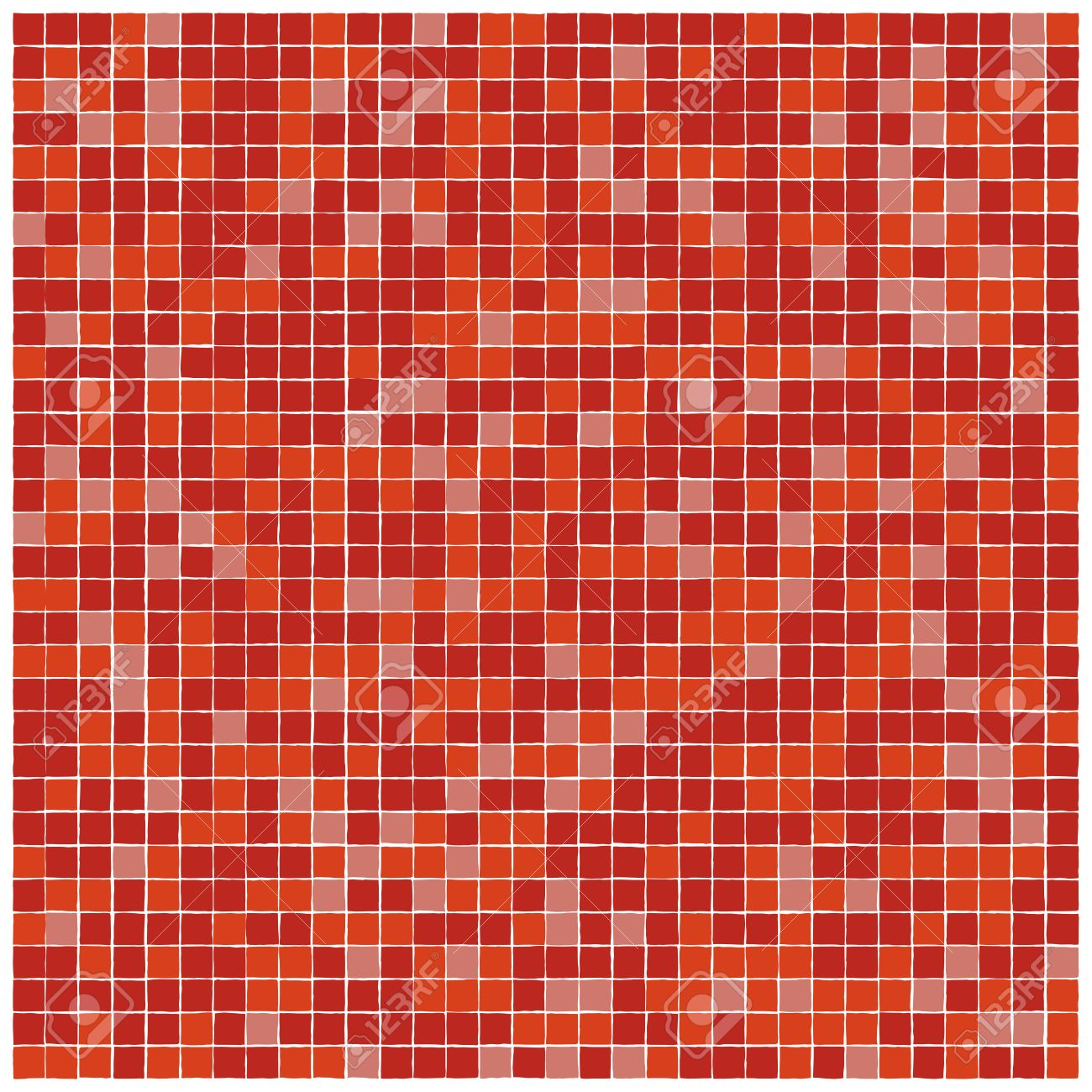 Vector Seamless Pattern Of Red Mosaic Tiles With Ragged Edges Royalty Free Cliparts Vectors And Stock Illustration Image 50305760