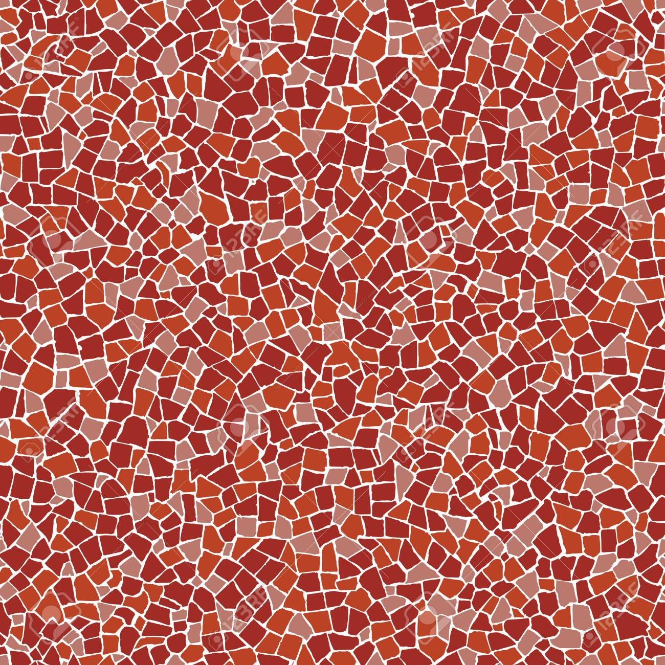 Trencadis red broken tiles (trencadis) seamless pattern royalty-fri clipart