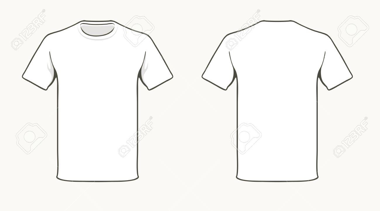 空白の t シャツのテンプレートです ロイヤリティフリークリップアート