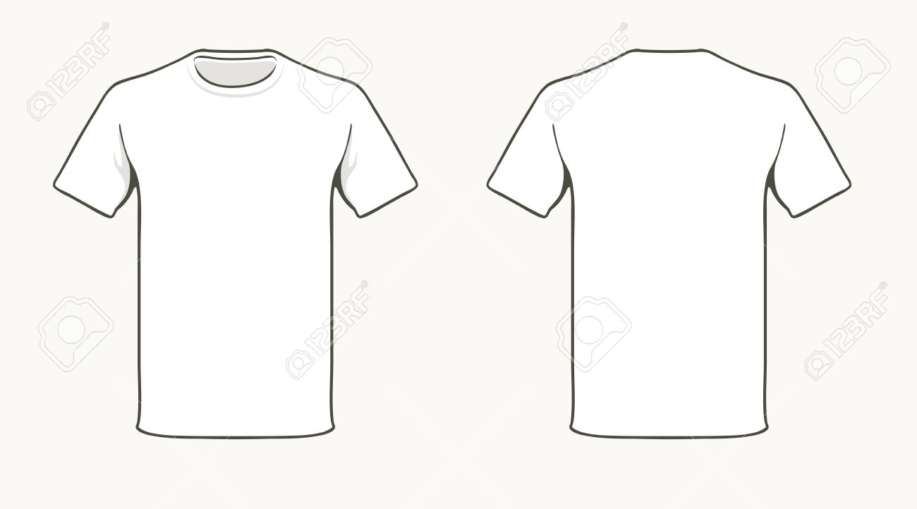 Blank T-shirt Template. Royalty Free Cliparts, Vectors, And Stock ...