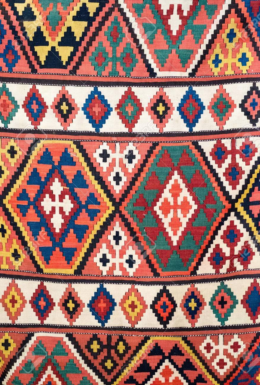 banque dimages dtail gomtrique traditionnel du tapis kilim - Tapis Kilim