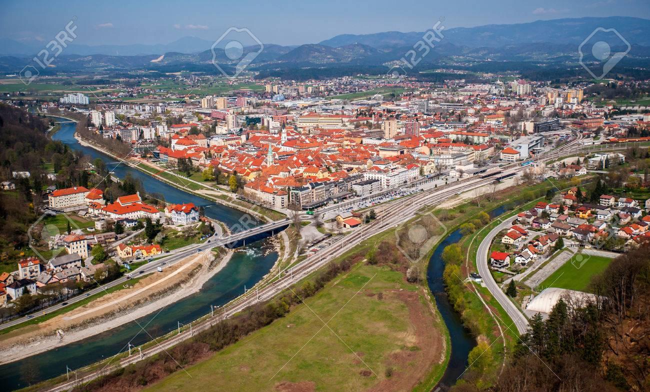 Celje town, panorama, Slovenia - 35141237