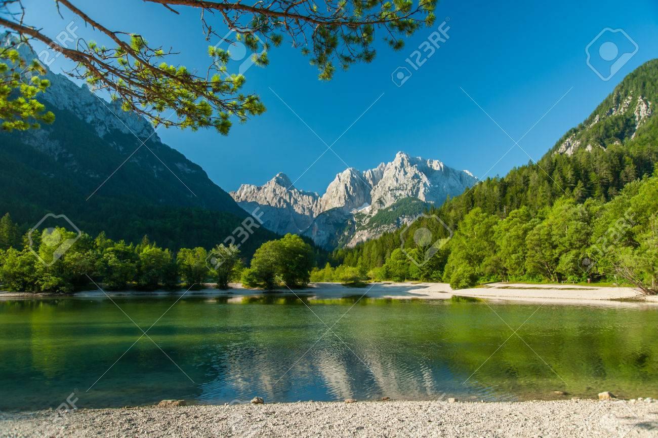Jasna lake, Kranjska gora, Slovenia - 34973661