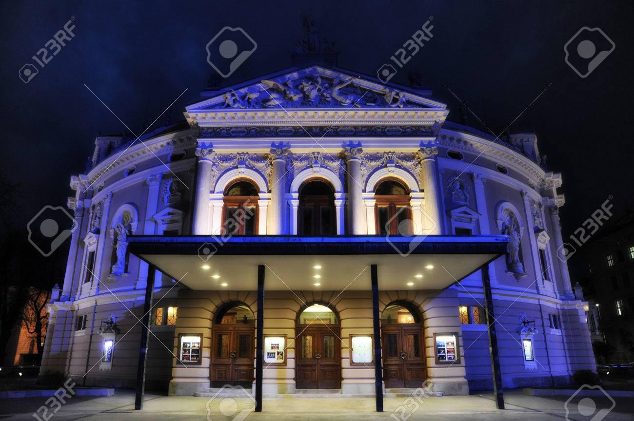 ljubljana opera house at night - 35198744