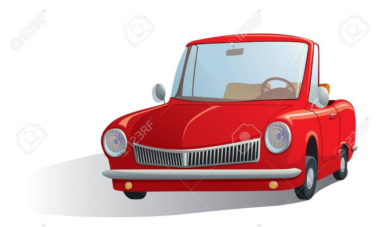 Vettoriale Illustrazione Di Una Macchina Rossa Retro Image 12161765