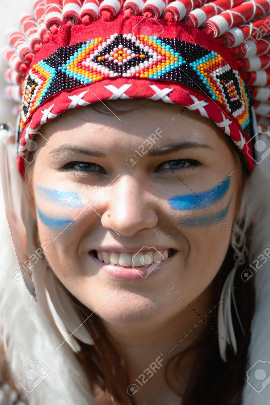 Connu Exceptional Maquillage Indien D Amerique #14: Peinture-visage  KC38