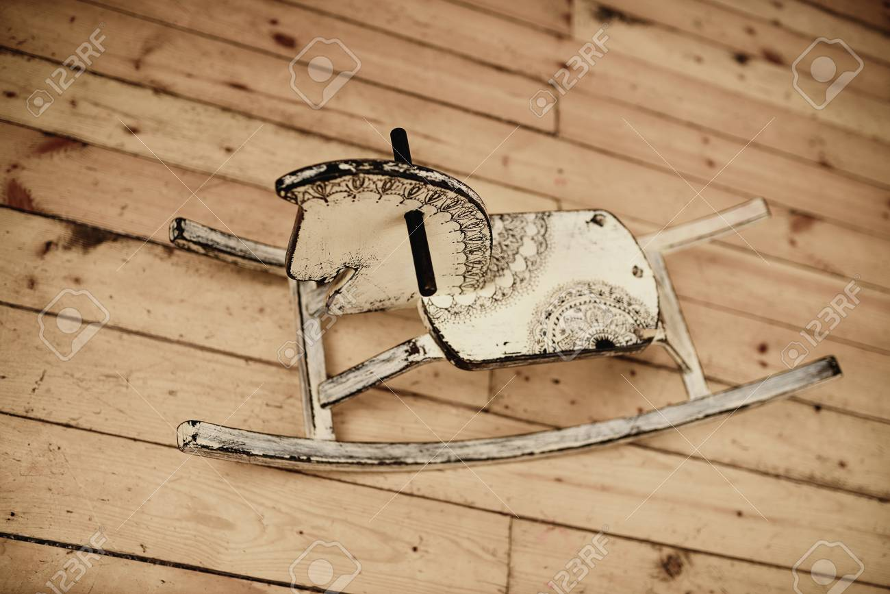 Classic Homemade Wooden Rocking Horse Stock Photo Picture And Royalty Free Image Image 48961424