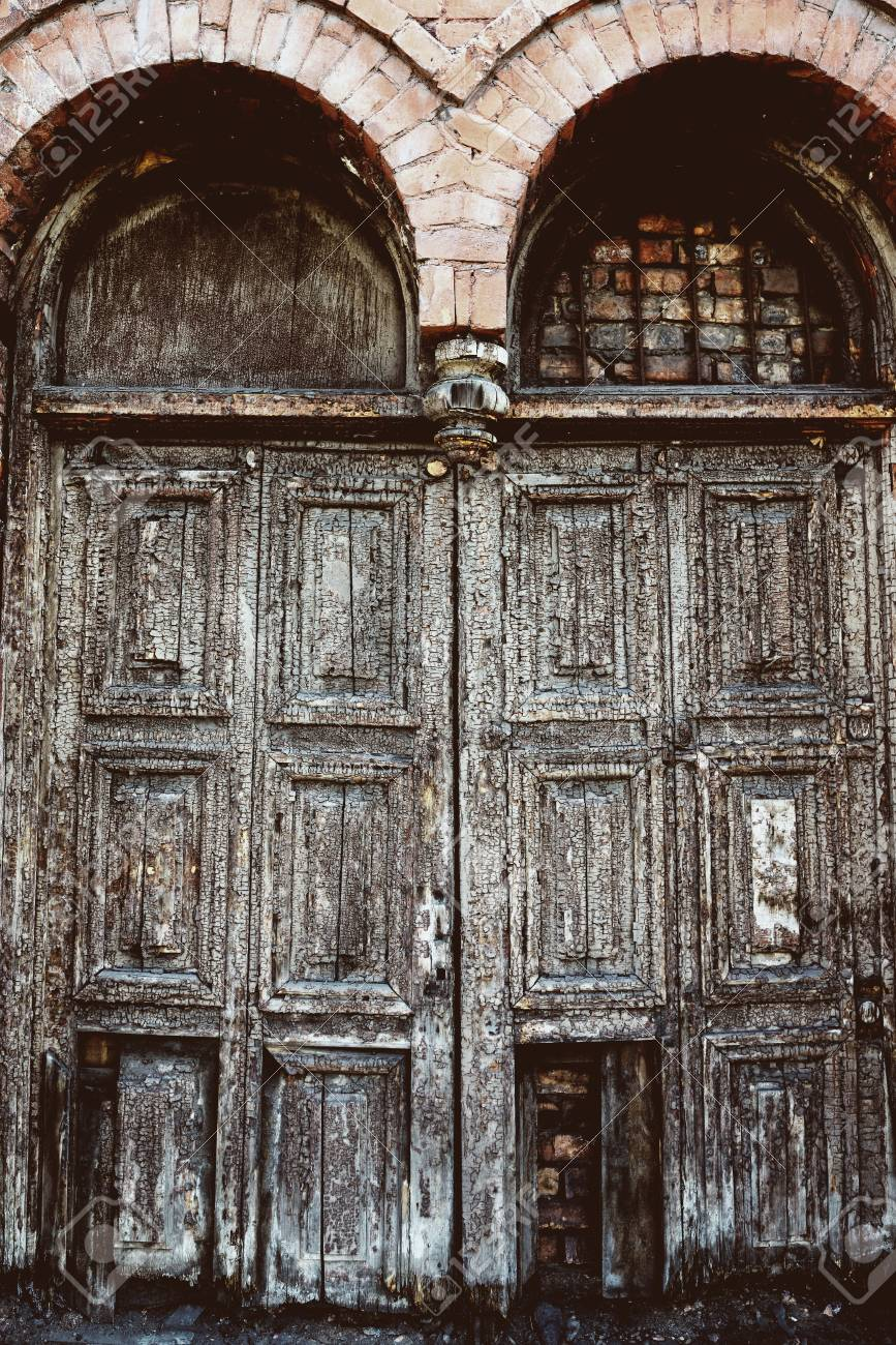 Stock Photo - Vintage old antique doors - Vintage Old Antique Doors Stock Photo, Picture And Royalty Free