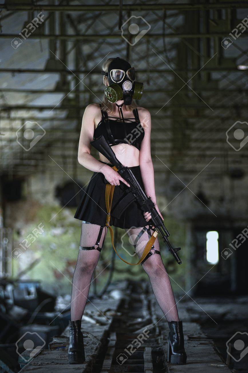 Girl With Machine Gun Leg